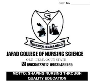JAFAD College of Nursing Science (JAFADCONS) Form